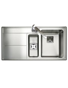 Arlington 1.5 Bowl Stainless Steel Kitchen Sink - LH Drainer