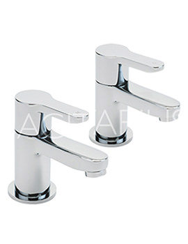 Sagittarius Plaza Pair Of Bath Taps Chrome - PL-102-C