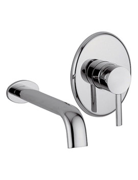 Bella 2 Hole Wall Mounted Basin Mixer Tap Chrome - 42072