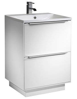 Vista 600mm White Freestanding Unit And Basin - VIS6FWW
