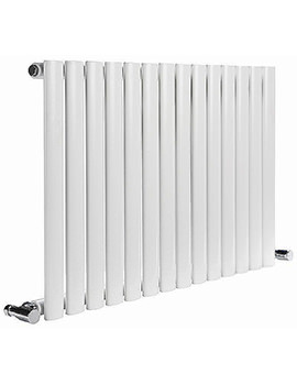 Reina Neva Single Designer Radiator 590 x 550mm White - RND-HNV10