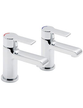 Ion Deck Mounted Bath Pillar Taps - ION-136