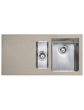 Cubix Gemini 1.5 Bowl Granite Oatmeal Kitchen Sink LH Drainer
