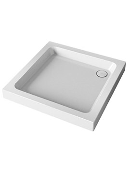 Flight 2 Upstand Square Shower Tray With Waste