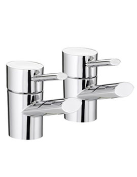 Oval Bath Taps Pair - OL 3-4 C