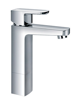 Dekka Medium Single Lever Basin Mixer Tap With Clicker Waste