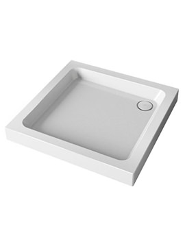 Flight 900 x 900mm Square Shower Tray With Waste