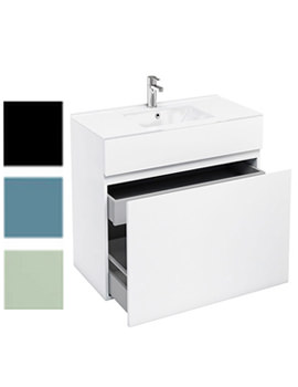 Related Britton Aqua Cabinet D450 Double Drawer Unit With 900mm Ceramic Basin