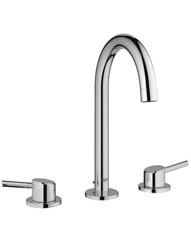 Concetto Deck Mounted 3 Hole Basin Mixer Tap - 20216001