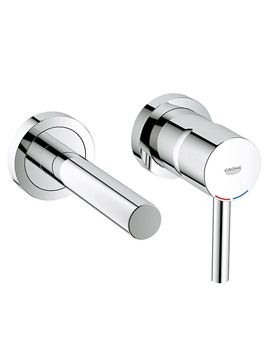 Related Grohe Essence Two Hole Wall Mounted Basin Mixer Tap - 19408000