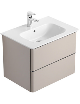Softmood 600mm Basin Unit Brown - T7800S5