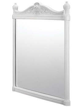 Georgian Mirror With White Aluminium Frame - T42 WHI