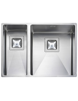 Atlantic Kube 1.5 Bowl Undermount Kitchen Sink - RH