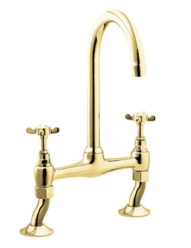 Coronation Bridge Sink Mixer Gold Tap - CR305-501