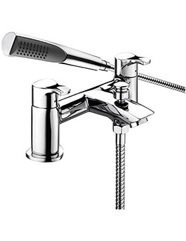 Capri Chrome Bath Shower Mixer Tap With Kit