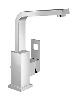Eurocube Single Lever Basin Mixer Tap With Pop Up Waste
