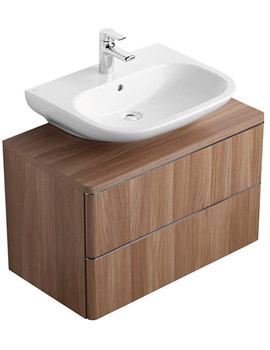 Softmood 800mm Basin Unit Walnut - T7801S6