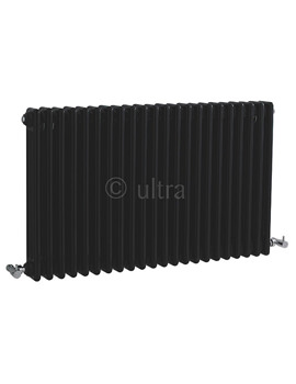 Colosseum Triple Column 1011 x 600mm Black Radiator - HXB06