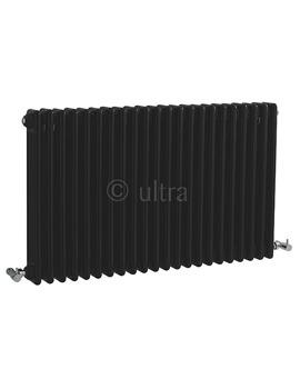 Ultra Colosseum Triple Column 1011 x 600mm Black Radiator - HXB06