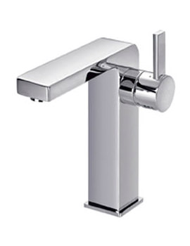 Flova Str8 Medium Basin Mixer Tap With Clicker Waste