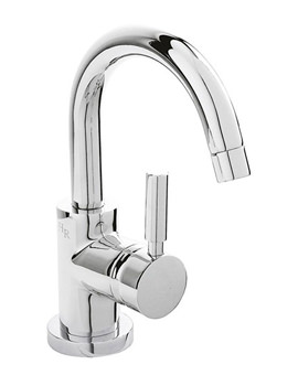 Hudson Reed Tec Single Lever Side Action Mini Basin Mixer Tap With Waste