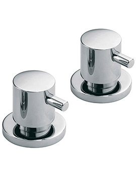 Zoo Three Forth Inch Deck Mounted Stop Valves Pair