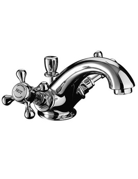 Victorian Monobloc Basin Mixer Tap With Pop-up Waste