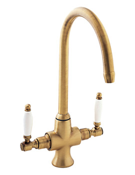 Georgian Mono Sink Mixer Tap Bronze - SM056-BZ