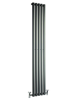 Cove 295 x 1800mm Single Sided Vertical Radiator Anthracite
