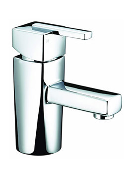 Qube Chrome Basin Mixer Tap - QU BASNW C