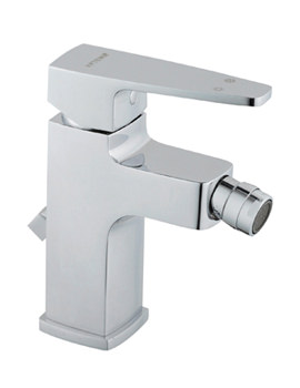Q-Line Bidet Mixer Tap With Pop-Up Waste - A40777