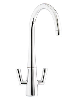 Agena Monobloc Twin Lever Kitchen Sink Mixer Tap