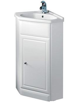 Tavistock Aspen 570mm White Corner Vanity Unit And Basin - A60CNRB