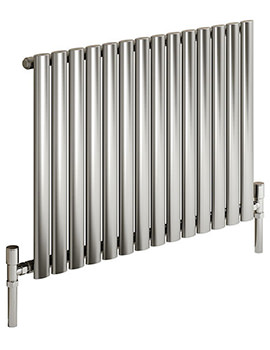 Reina Nerox Single Polished Horizontal Radiator 826mm Wide x 600mm High
