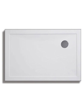 Lakes Low Profile ABS 1000x800mm Rectangular Tray With Waste