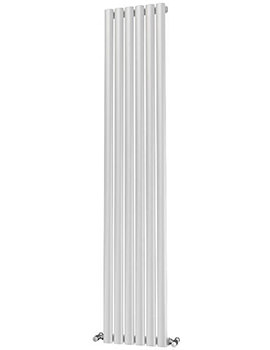 Beo Oliver Eliptical 6 Tube Steel 348 x 1600mm Single Panel Radiator White