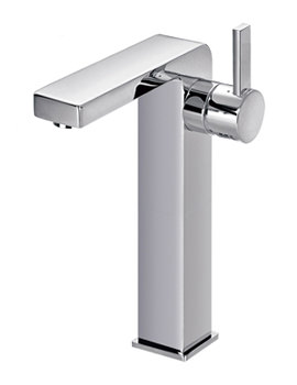Related Flova Str8 Tall Basin Mixer Tap With Clicker Waste - STTBAS