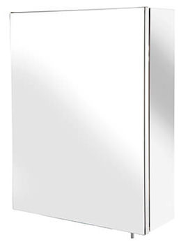Croydex Avon Stainless Steel Single Door Small Mirror Cabinet