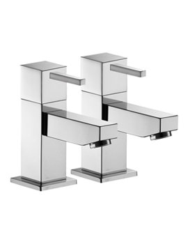 Sq2 Pair Of Bath Pillar Taps - SQ34