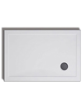 Lakes Standard Height 1000 x 800mm Stone Resin Tray With Waste