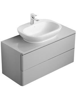 Softmood 1000mm Basin Unit Grey - T7802S4