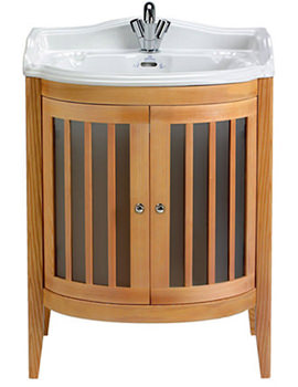 Linea Bow Fronted Vanity Unit With Oxford Basin