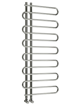 Reina Jesi Designer Chrome Radiator 500 x 1000mm - RND-JS5100
