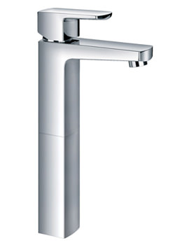 Dekka Tall Single Lever Basin Mixer Tap With Clicker Waste