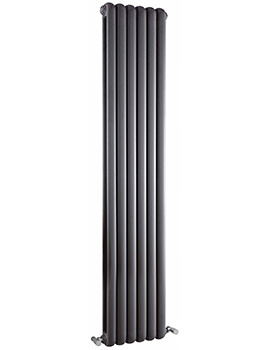Salvai Vertical Double Panel Radiator 383 x 1500mm Anthracite
