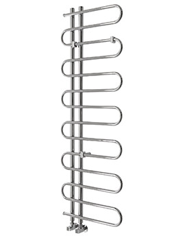 Essential Pisces Tube Chrome Towel Warmer 500 x 1000mm - 148258