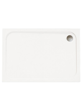 Mstone 1100 x 800mm Rectangular Shower Tray With Waste - D118RT