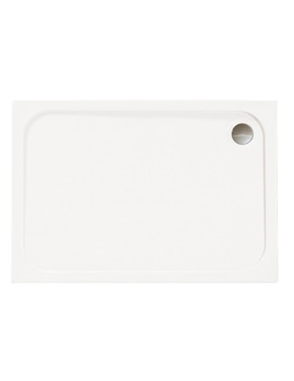 Mstone 1100 x 760mm Rectangular Shower Tray With Waste - D1176RT