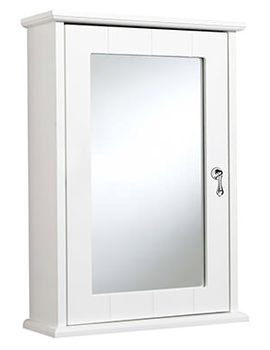 Croydex Ribble Hang N Lock Single Door Wooden Mirror Cabinet