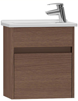 VitrA S50 Oak 450mm Compact Washbasin Unit - 53033